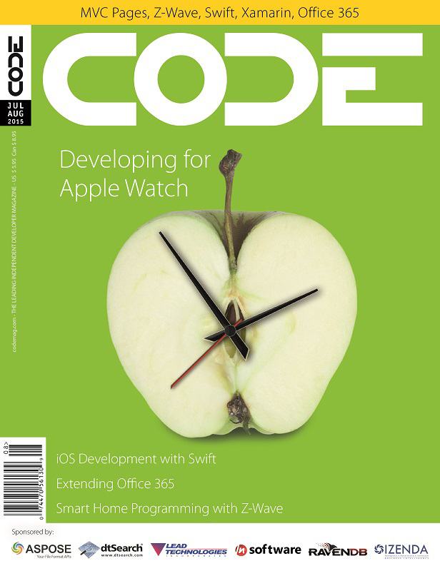 Code magazine Issue July / August 2015