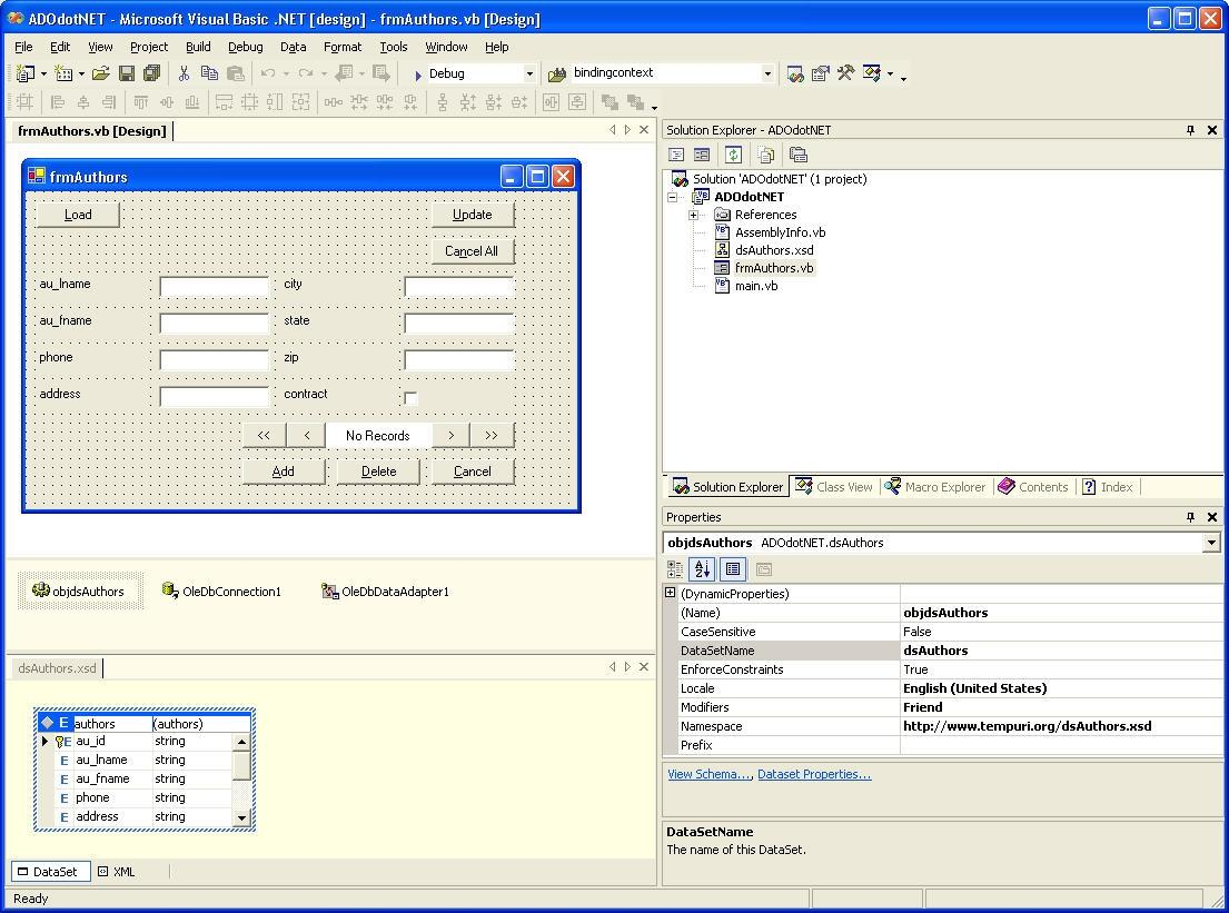 Figure 4:the Dataset Object And Xsd File Work Together To Define And Create  The Local Data Cache
