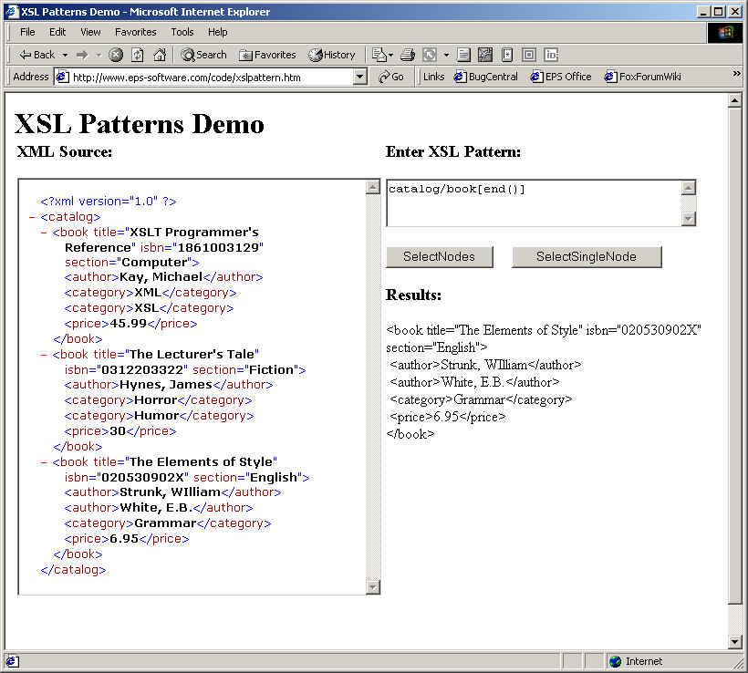XSL Patterns