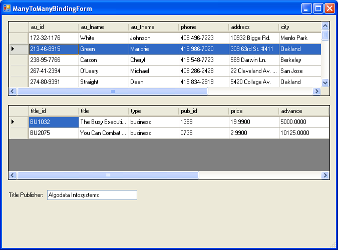 Tackle Complex Data Binding with Windows Forms 2 0