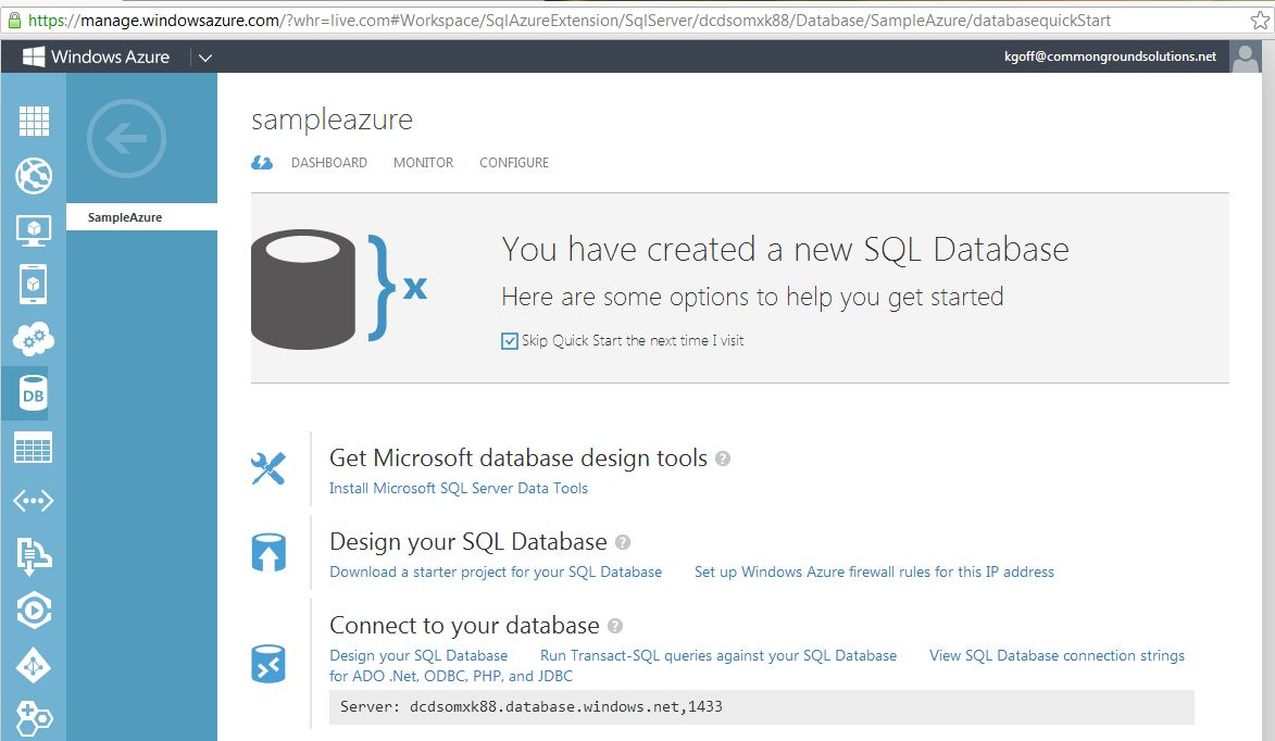 The Absolute Beginner's Guide to Windows Azure SQL Database