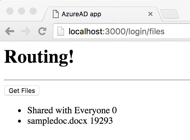 AngularJS2, AzureAD, and Microsoft Graph