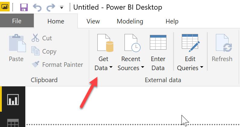 Figure 3: Connecting to data through the Power BI Desktop