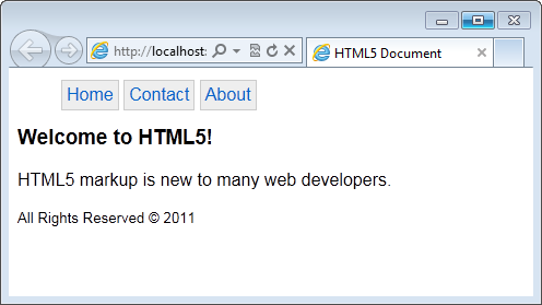 Figure 2: Sample HTML5 page.