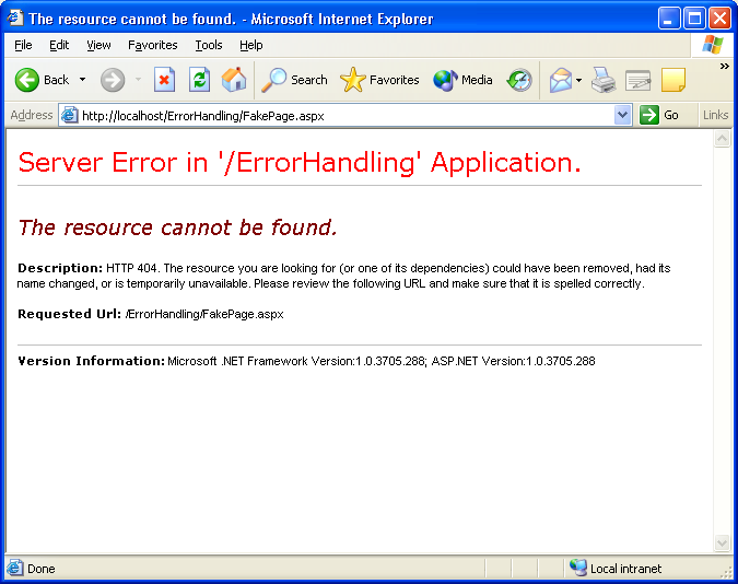 Errors In Your ASP NET Code? Don't Throw a Fit, Throw an