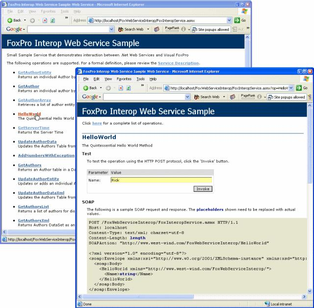 Using Visual Foxpro To Call Net Web Services For Data Access