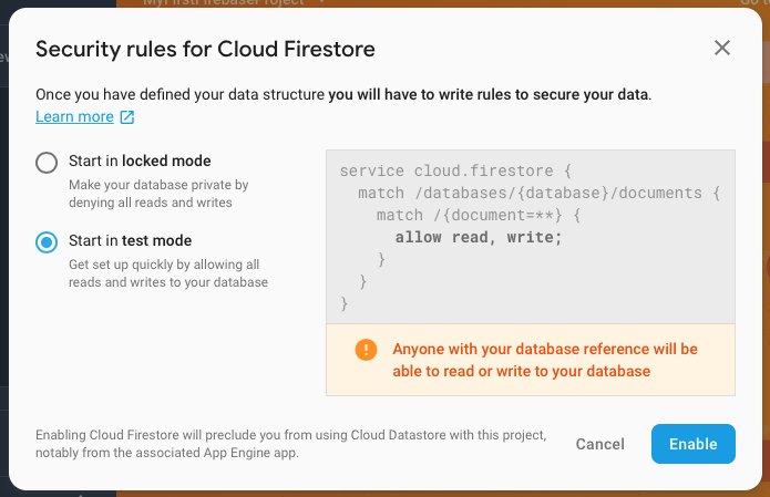 Introduction to Cloud Firestore
