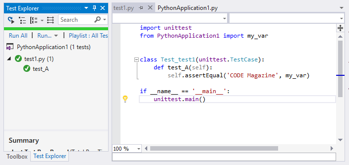 Learn Python with Visual Studio