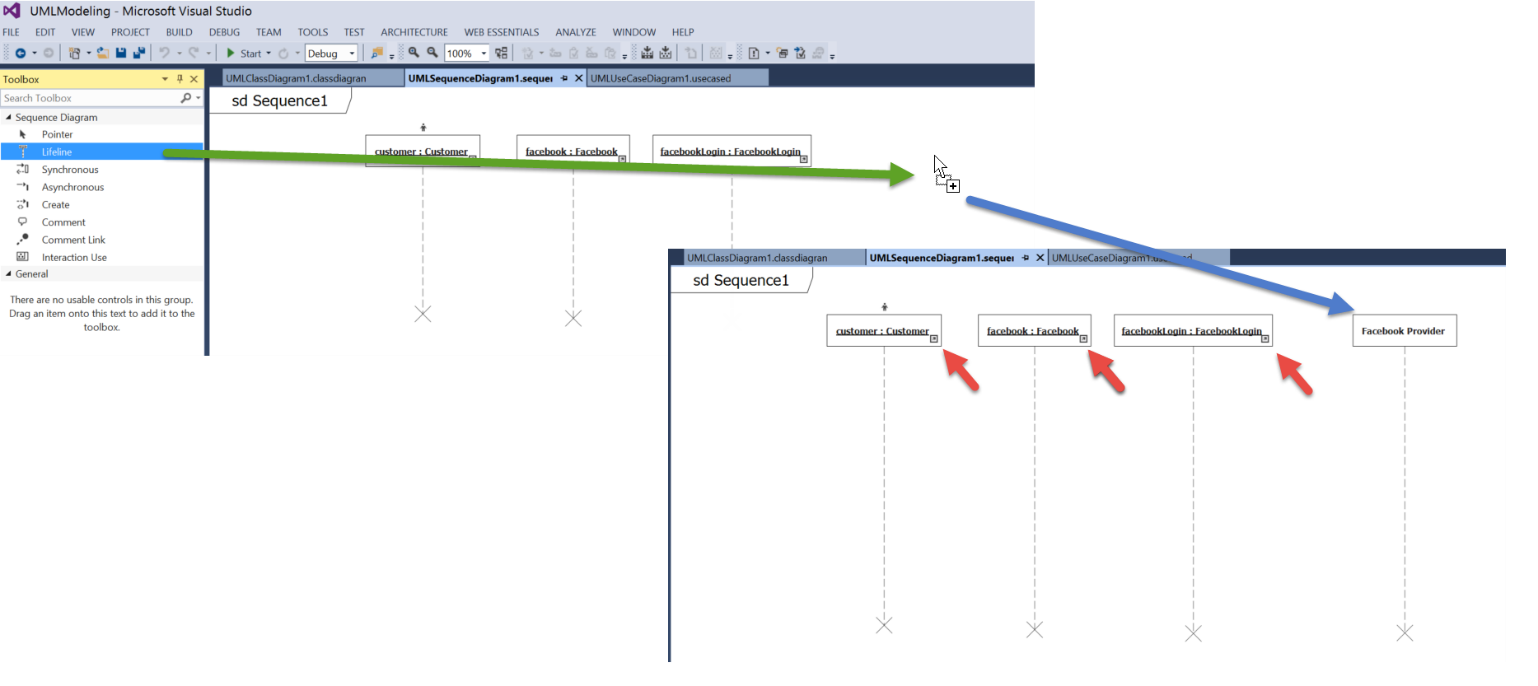 The simplest thing possible understanding the visual studio figure 13 timeline elements in a sequence diagram can be created from pre existing diagram elements ccuart Images