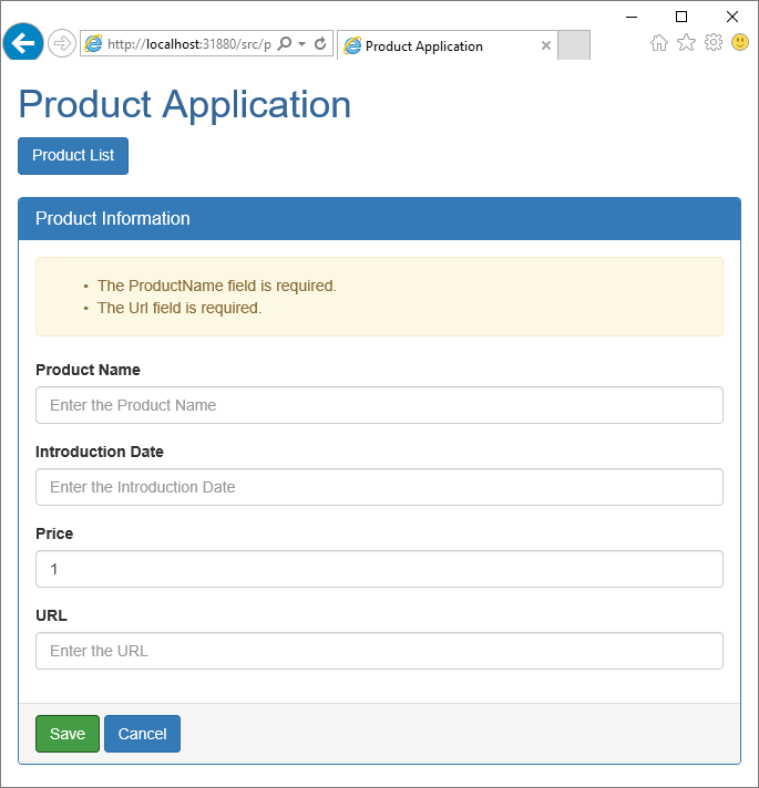 Angular Data Entry Forms (Part 2 of 3)