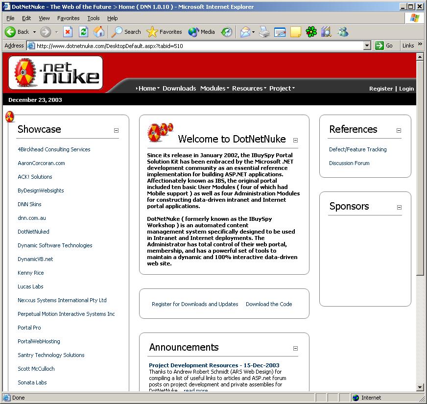 Building a Internet Portal (for Free!) with DotNetNuke