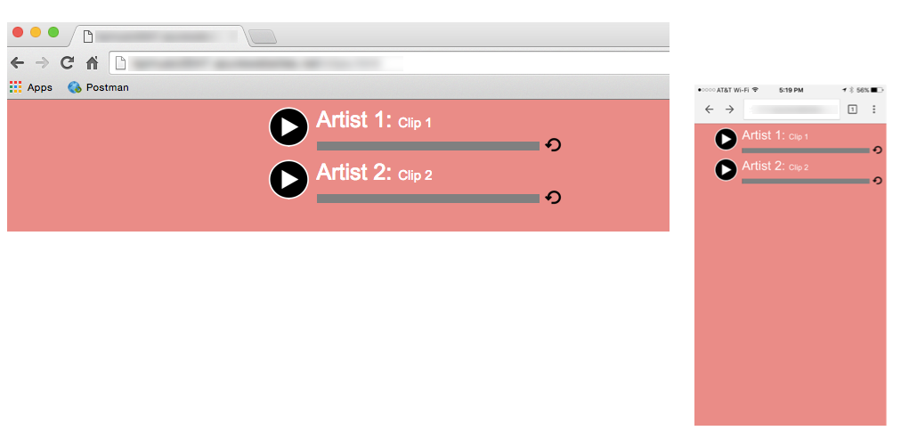 Figure 3: Rendered display for the HTML in Listing 1.