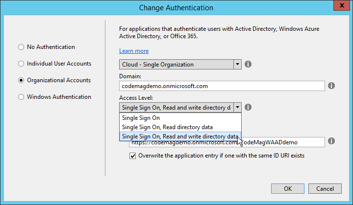 Using Windows Azure Active Directory as a Single Sign-on for