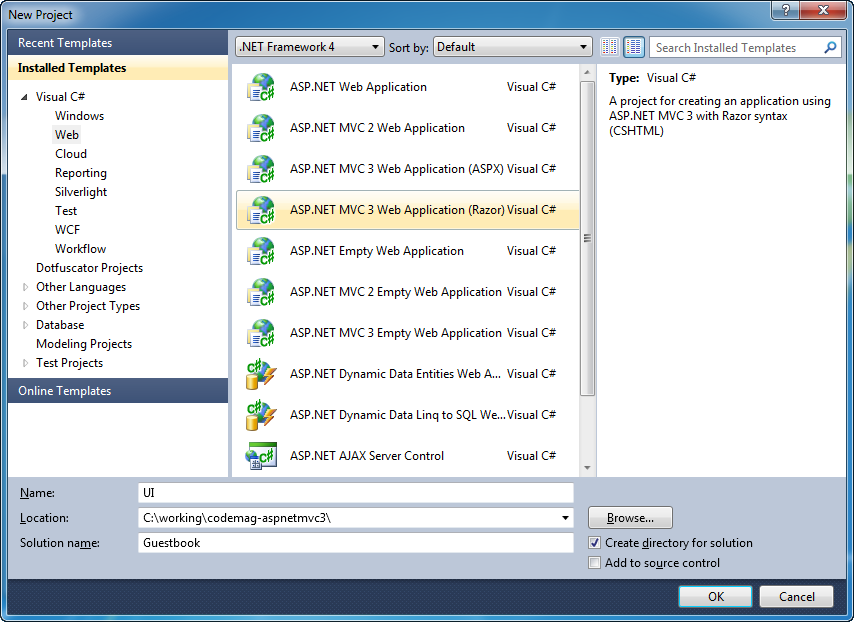 Highlights of ASP NET MVC 3