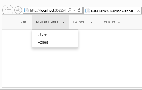 Create Dynamic Bootstrap Menus by Storing Menu Data in XML