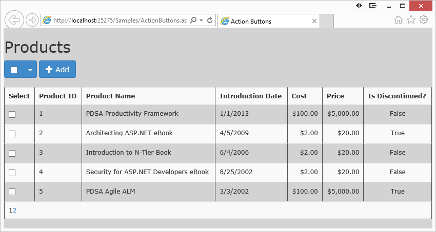 Creating an action checkbox with web forms bootstrap and - Move table rows up and down using jquery ...
