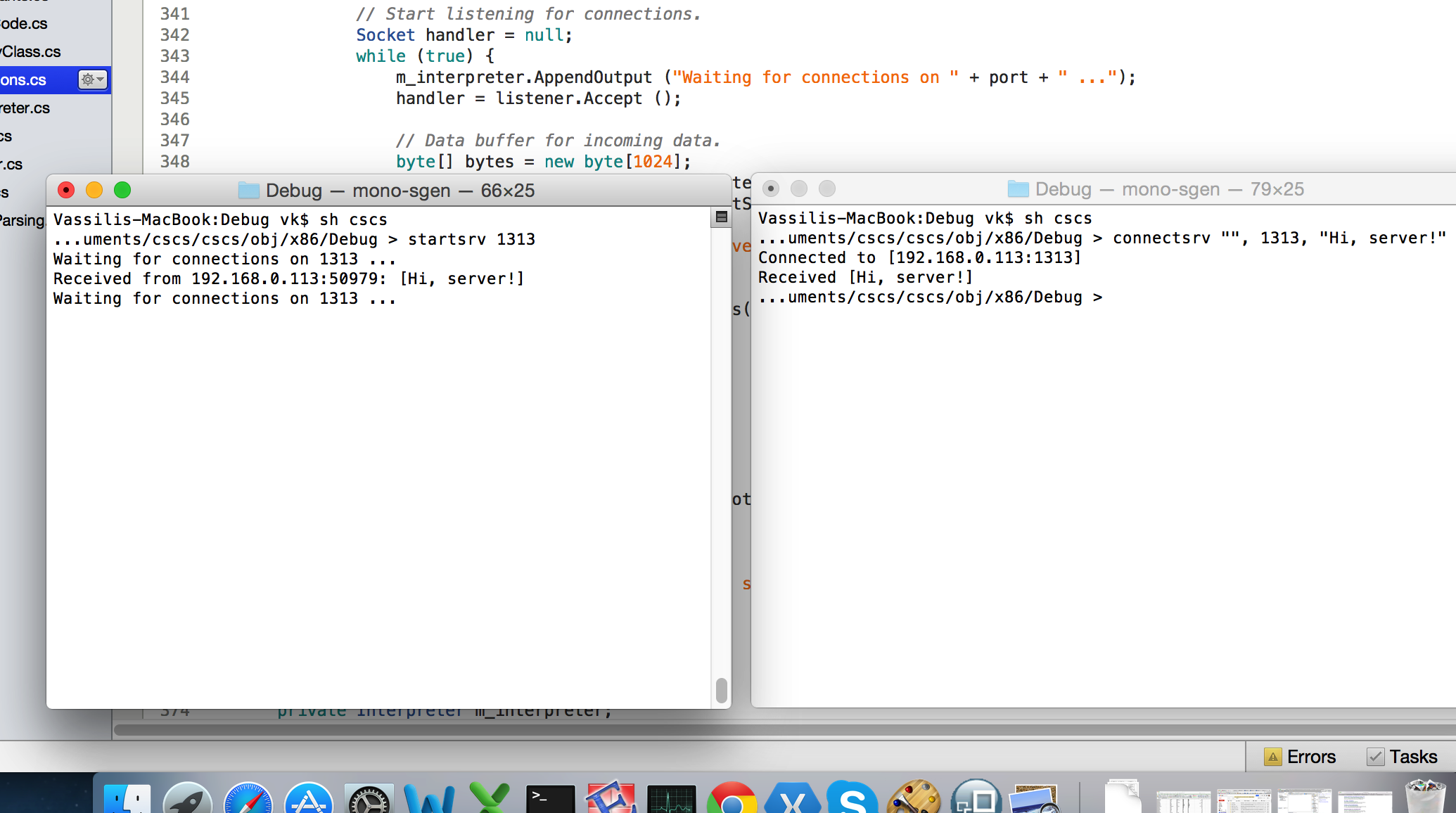 How to write your own programming language in c figure 2 running a client and a server on a mac biocorpaavc Choice Image