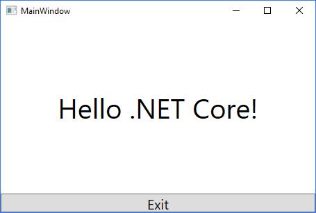 NET Core for the Desktop