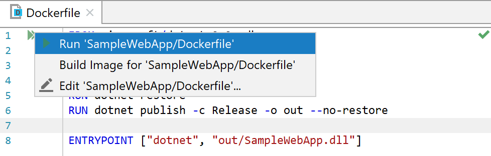 Using JetBrains Rider to Develop ASP NET Core Applications on Docker