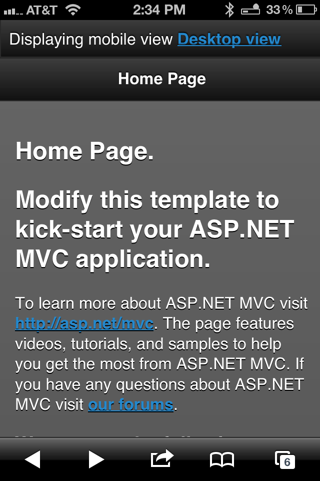 ASP NET MVC 4 Highlights, Part 1