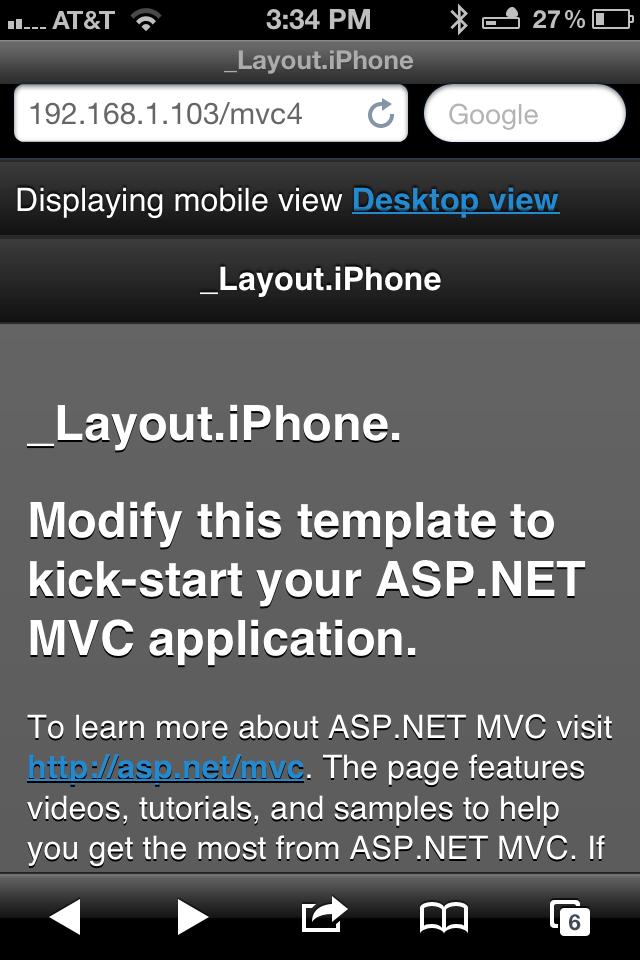 ASP NET MVC 4 Highlights, Part 1